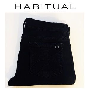 Habitual Jeans Straight Leg Size 29 in Black